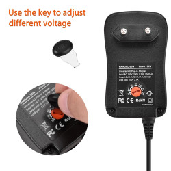 Power Adapter Universal 30W adjustable with USB output