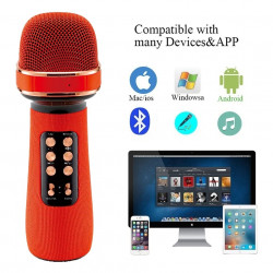 Karaoke 2 in 1 Micphone and Bluetooth Speaker for mobile phone sing song S898